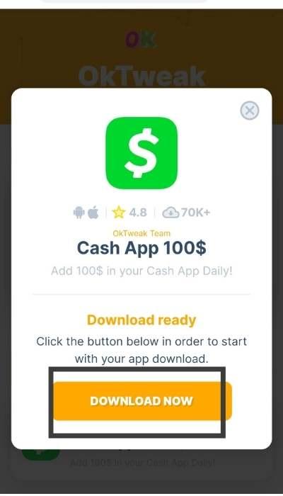 oktweak ios download cash app