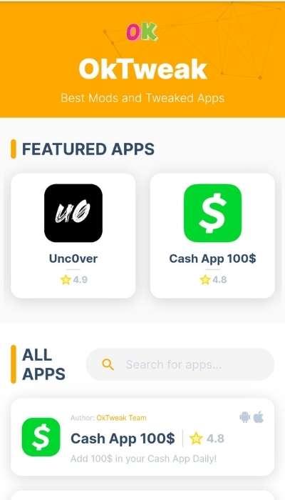what is oktweak.com app ios appstore